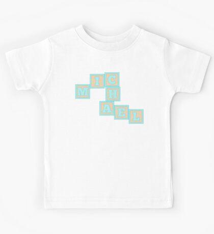 Baby Michael in alphabet building blocks Kids Tee