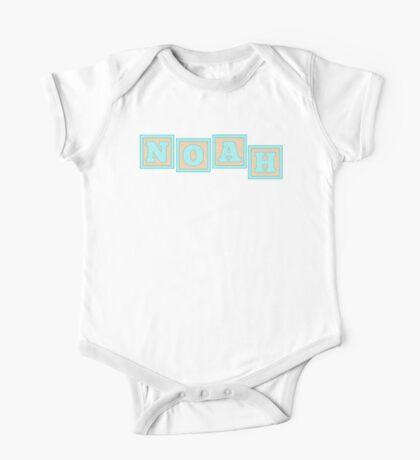 Baby Noah in alphabet building blocks One Piece - Short Sleeve