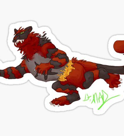 Incineroar Sticker Sticker