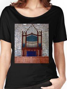 Pipe Organ, St. Columba's Church, Drumcliff, Sligo, Ireland Women's Relaxed Fit T-Shirt