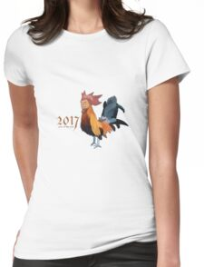 2017 - Year of the cock featuring president Trump Womens Fitted T-Shirt