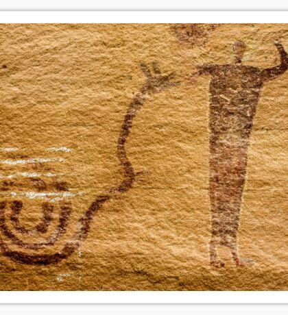 Snake Charmer - Buckhorn Wash Pictograph Panel - Utah Sticker
