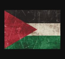 Vintage Aged and Scratched Palestinian Flag Kids Clothes