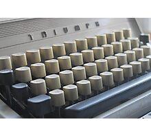 Retro type Photographic Print