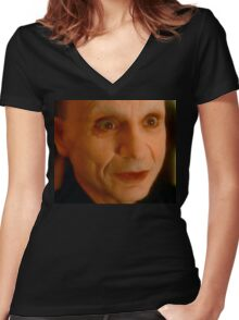 Mystery Man - Lost Highway fan art digital painting Women's Fitted V-Neck T-Shirt