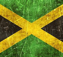 Vintage Aged and Scratched Jamaican Flag by Jeff Bartels