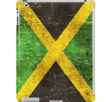 Vintage Aged and Scratched Jamaican Flag iPad Case/Skin