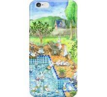 bunny pool party iPhone Case/Skin