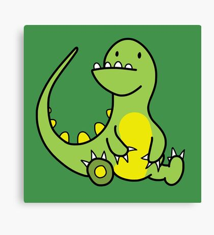 The Little Fat Dino Canvas Print