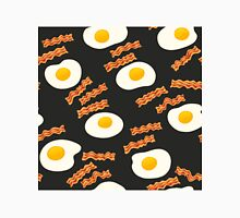 Breakfast With Bacon and Eggs Seamless Vector Pattern Dark Classic T-Shirt