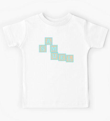 Baby Samuel in alphabet building blocks Kids Tee