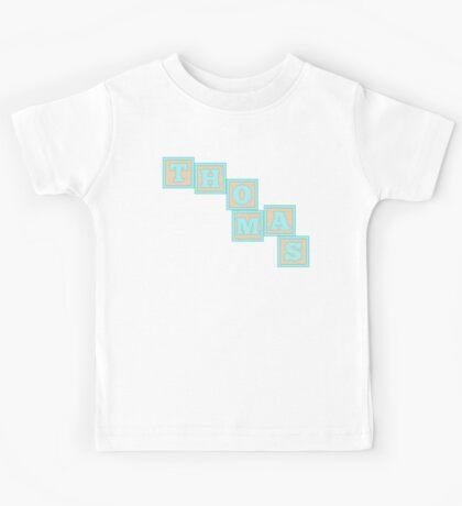 Baby Thomas in alphabet building blocks Kids Tee