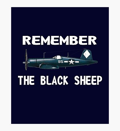 Corsair WWII History Black Sheep Squadron - Jet Pilot Photographic Print
