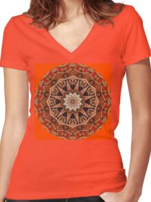 Spice Mandala Women's Fitted V-Neck T-Shirt