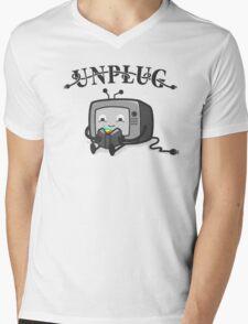 Unplug Mens V-Neck T-Shirt