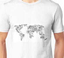 Floral Map Unisex T-Shirt