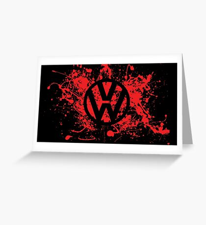 Volkswagen Logo Greeting Card
