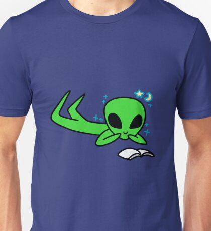 Alien Reading a Book Unisex T-Shirt