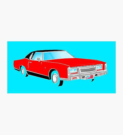 American Car - RED Photographic Print