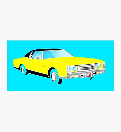 American Car - YELLOW Photographic Print