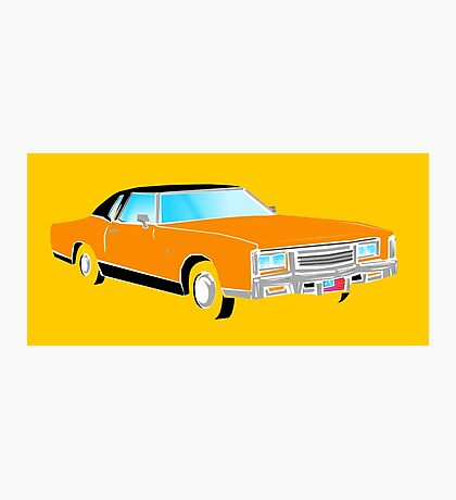 American Car - ORANGE Photographic Print