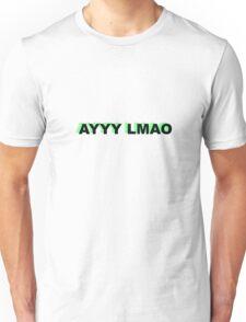 AYY LMAO MEME SLANG ALIEN TUMBLR TWITTER STICKER Unisex T-Shirt