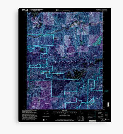 USGS TOPO Map California CA Washington 295648 2000 24000 geo Inverted Canvas Print