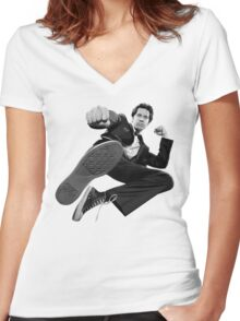 Chuck 'Intersect' Kick - 2017 Women's Fitted V-Neck T-Shirt