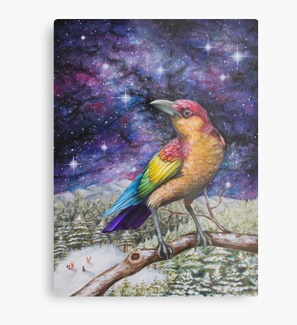 Rainbow Crow Metal Print
