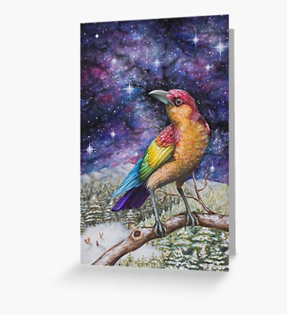 Rainbow Crow Greeting Card