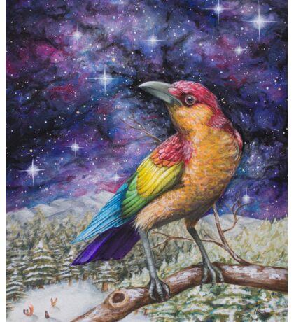 Rainbow Crow Sticker