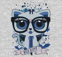 Nice Kitty - White & Blue One Piece - Long Sleeve