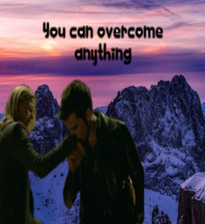 Captain Swan~you can overcome anything  Sticker