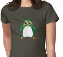Green Penguin Womens Fitted T-Shirt