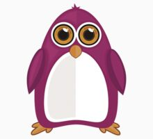 Violet Penguin Kids Tee