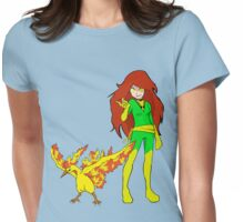 Moltres & Phoenix Womens Fitted T-Shirt