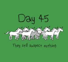 Day 45. They still suspect nothing. (Rhino + Unicorns) Kids Clothes