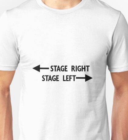 Stage Right Versus Stage Left - Clear Background Unisex T-Shirt