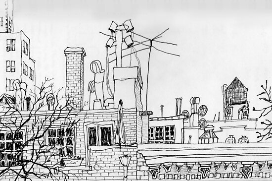 Greenwich Village Roofscape  by James Lewis Hamilton
