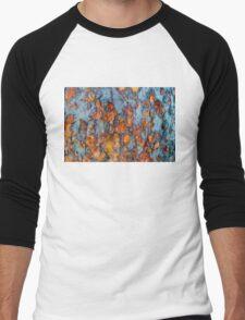 Metal rust background Men's Baseball ¾ T-Shirt