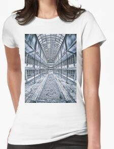 Geometric Building Womens Fitted T-Shirt