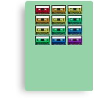Cassette Rainbow Canvas Print