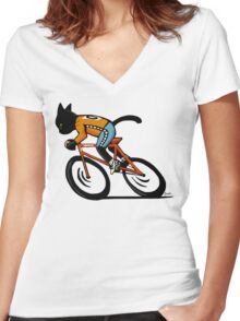 Cycle sport Women's Fitted V-Neck T-Shirt