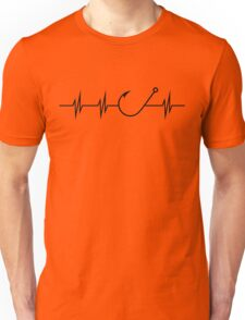 Fishing Heart Beat Unisex T-Shirt