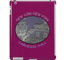 NYC-Carnegie Hall iPad Case/Skin