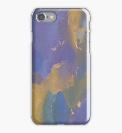 Acrylic Print - Yellow/Blue/Purple iPhone Case/Skin