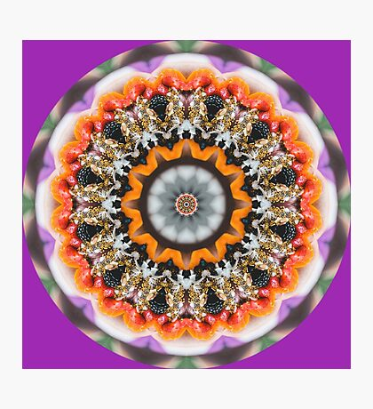 Fruit Mandala Photographic Print