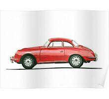 Porsche 356 B Karmann Hardtop Coupe Poster