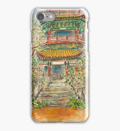 Abandoned Pagoda in Springtime iPhone Case/Skin