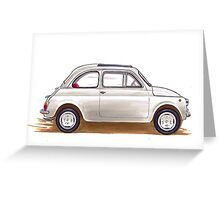 Fiat 500 Greeting Card